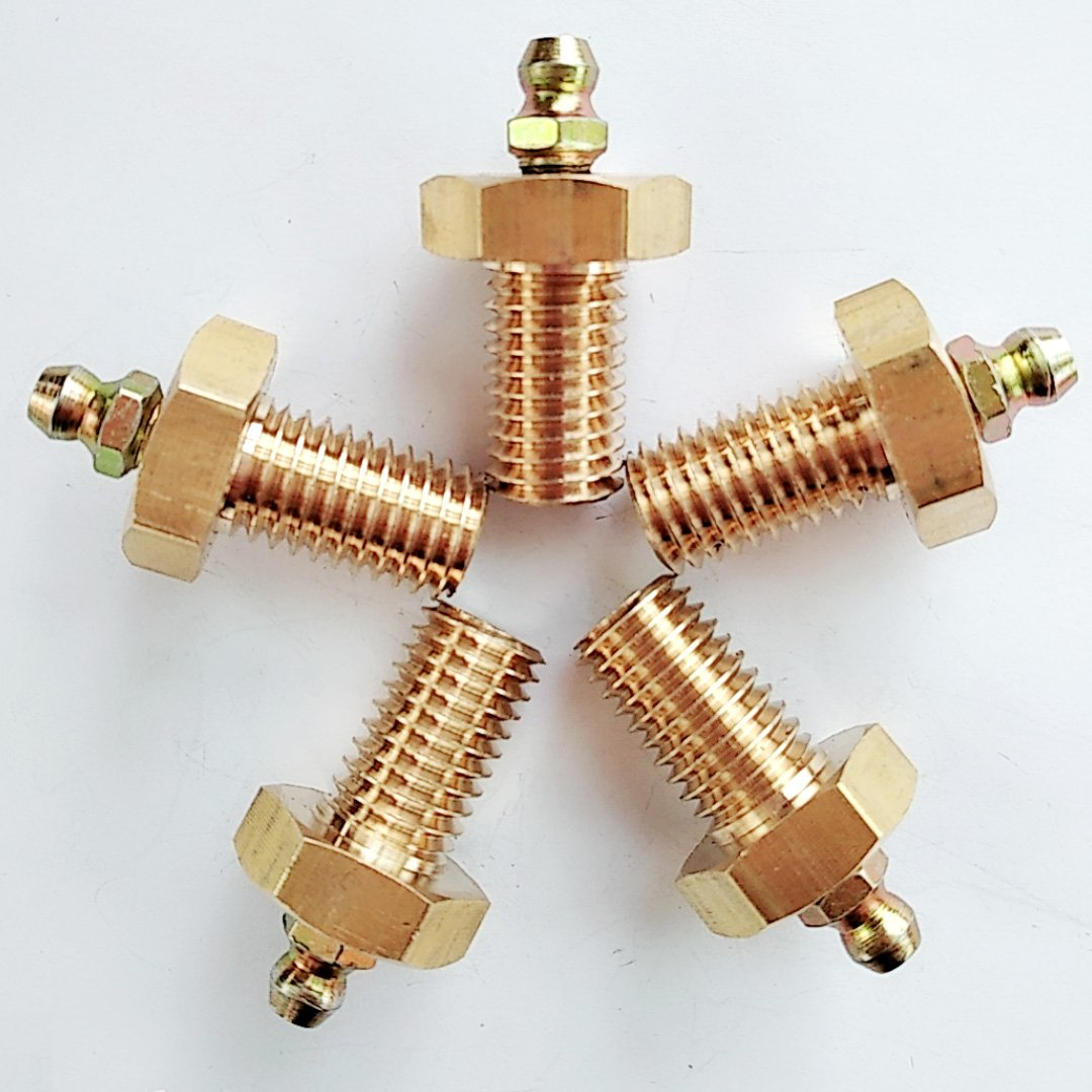 Butter Gun Copper Oil Tsui 10*1 8*1 6*1 Straight Oil Nozzle Copper Oil Nozzle Copper Refueling Nozzle